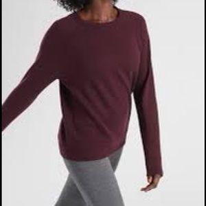 Athleta Maroon Dynamic Crew Sweatshirt Large